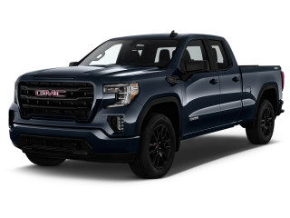 "2019 GMC Sierra 1500 4WD Double Cab 147"" Elevation Angular Front Exterior View"