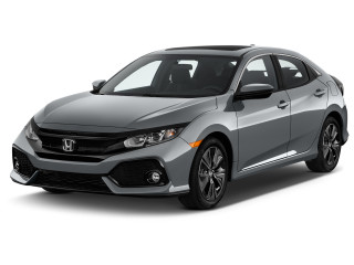 2019 Honda Civic Hatchback EX CVT Angular Front Exterior View