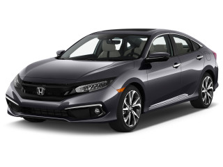 2019 Honda Civic Touring CVT Angular Front Exterior View