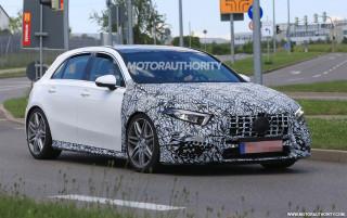 2020 Mercedes-AMG A45 hatchback spy shots - Image via S. Baldauf/SB-Medien
