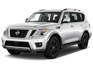 2019 Nissan Armada 4x4 Platinum Angular Front Exterior View