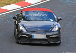 2020 Porsche 718 Boxster Spyder spy shots and video