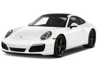 2019 Porsche 911 Carrera Coupe Angular Front Exterior View