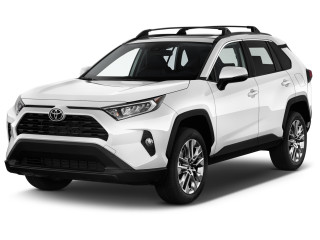 2019 Toyota RAV4 XLE Premium FWD (GS) Angular Front Exterior View