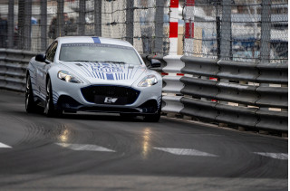 Aston Martin Rapide E makes first public appearance at Monaco e-Grand Prix