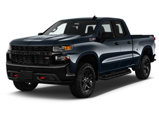 "2020 Chevrolet Silverado 1500 4WD Double Cab 147"" Custom Trail Boss Angular Front Exterior View"