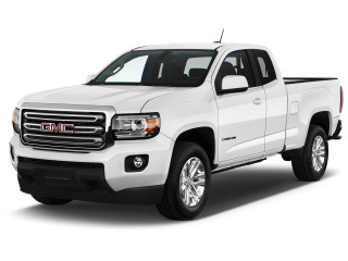 "2020 GMC Canyon 4WD Ext Cab 128"" SLE Angular Front Exterior View"