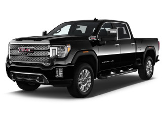 "2020 GMC Sierra 2500HD 4WD Crew Cab 159"" Denali Angular Front Exterior View"