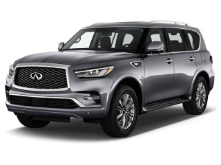 2020 INFINITI QX80 LUXE RWD Angular Front Exterior View