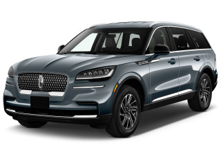 2020 Lincoln Aviator Standard RWD Angular Front Exterior View