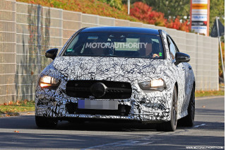2020 Mercedes-AMG CLA35 spy shots and video