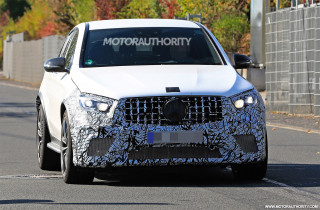 2020 Mercedes-AMG GLC63 Coupe facelift spy shots - Image via S. Baldauf/SB-Medien