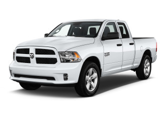 "2020 Ram 1500 Express 4x2 Quad Cab 6'4"" Box Angular Front Exterior View"