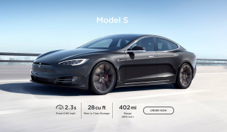 2020 Tesla Model S with EPA-rated range of 402 miles