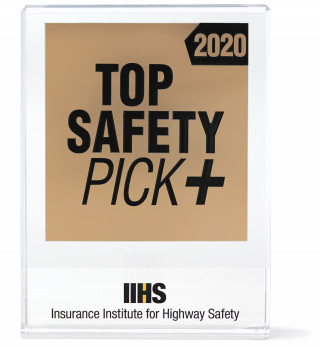2020 Top Safety Pick+ award from the IIHS