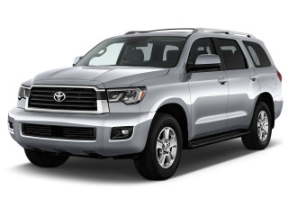 2020 Toyota Sequoia SR5 4WD (Natl) Angular Front Exterior View