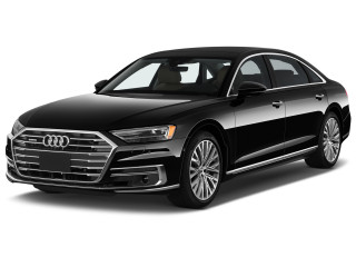 2021 Audi A8 60 TFSI e quattro Angular Front Exterior View