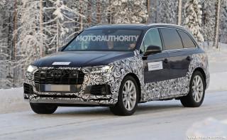 2021 Audi Q7 facelift spy shots - Image via S. Baldauf/SB-Medien