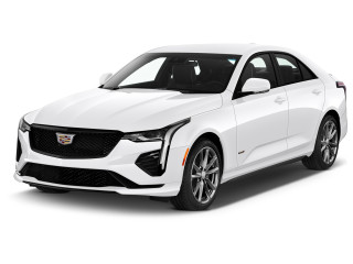 2021 Cadillac CT4 4-door Sedan V-Series Angular Front Exterior View