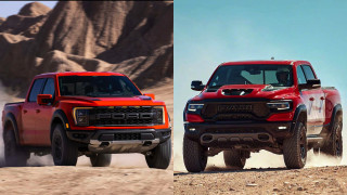 2021 Ford F-150 Raptor vs. 2021 Ram 1500 TRX