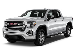 "2021 GMC Sierra 1500 2WD Crew Cab 147"" SLT Angular Front Exterior View"