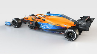 2021 McLaren MCL35M Formula One race car
