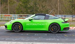 2021 Porsche 911 Targa spy shots - Image via S. Baldauf/SB-Medien