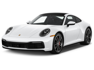 2021 Porsche 911 Turbo S Coupe Angular Front Exterior View