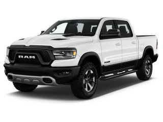"2021 Ram 1500 Rebel 4x4 Crew Cab 5'7"" Box Angular Front Exterior View"