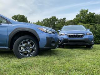 2021 Subaru Crosstrek Sport, left, and Limited, right