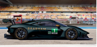 Artist's impression of a Brabham BT62 GTE race car
