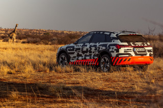 2019 Audi e-tron prototype first drive, Namibia, Africa, October, 2018