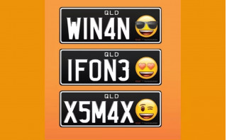 Australian license plates with emoji