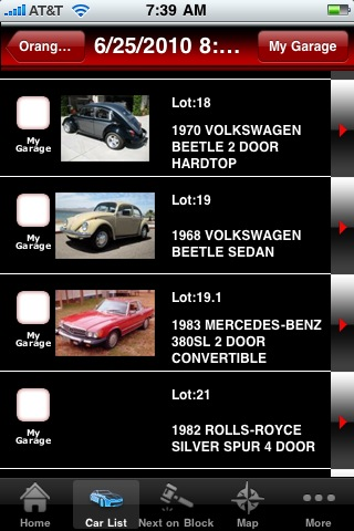 Barrett-Jackson app for Apple
