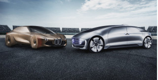 BMW and Mercedes-Benz self-driving car concepts