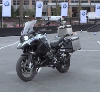 BMW self-riding motorcycle at 2019 CES