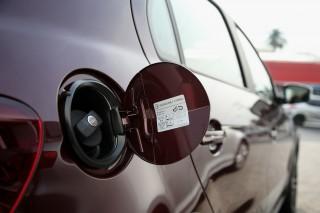 Fuel filler of Volkswagen Gol, Brazilian flex-fuel vehicle