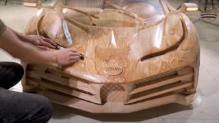 Bugatti Centodieci wood carving (via ND - Woodworking Art)