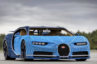 This life-size, drivable Lego Bugatti Chiron has 2,304 electric motors