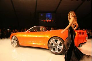 Carmen Electra and the Camaro Convertible