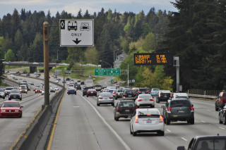 Carpool lanes I-5, Seattle, Washington [Credit: SounderBruce-Wikimedia Commons]