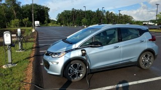 Charging Chevy Bolt EV before trip across Maryland   [image: Brian Ro]