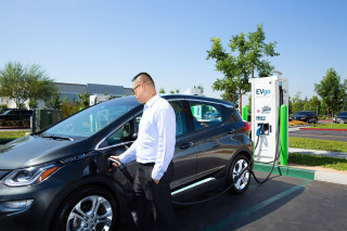 Chevrolet Bolt EV charging at EVgo station