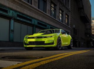 2019 Chevrolet Camaro SEMA show car in Shock color