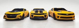 Bumblebee Chevrolet Camaros from Transformers film series
