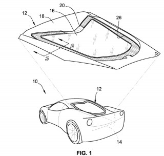 2020 Chevrolet Corvette engine hatch cover patent image
