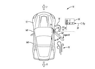 Mid-engine C8 Corvette power door patent
