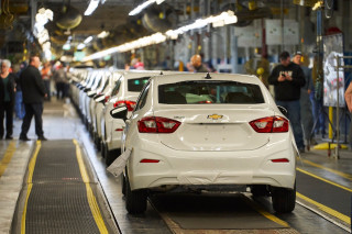 Final Chevrolet Cruze built at GM Lordstown plant