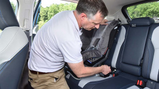 Child seat installation Photo: IIHS