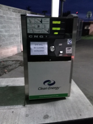 Closed Clean Energy natural-gas fueling station, Seattle